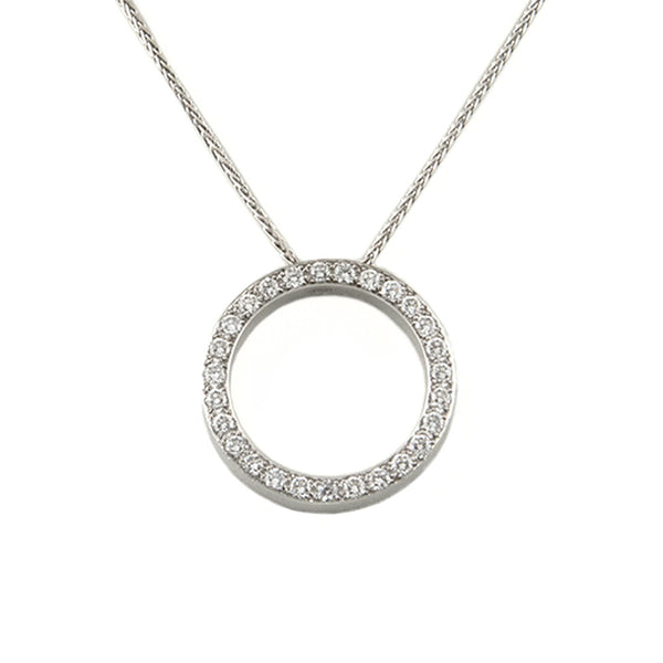 18K Circle Pendant With Diamonds - Westmount, Montreal, Quebec