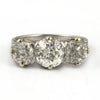 Antique Three stone Diamond Ring Platinum - Westmount, Montreal Quebec