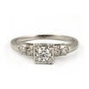 Vintage Diamond Solitaire Ring 14k White Gold