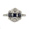 Sapphire and Diamond Art Deco Ring Circa 1930 - Montreal estate jeweller
