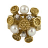 Eclectic Pearl and Diamond Ring by VACK - Circa 1960 - Rings Montreal