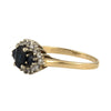 Vintage 14k Three stone Sapphire & Diamond ring - Westmount, Montreal