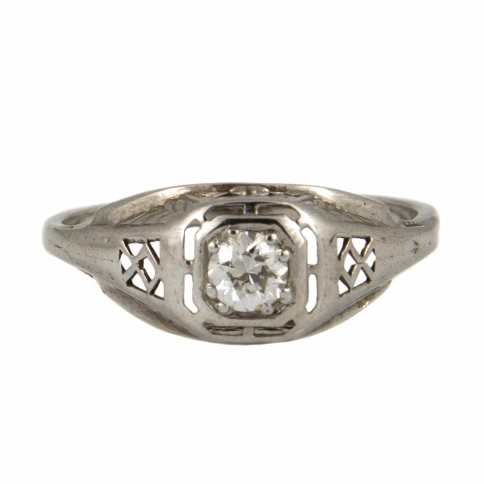 Edwardian Solitaire Diamond Ring - Westmount, Montreal