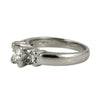 1.12 cts Platinum Princess cut Three Stone Diamond Ring - Engagement ring montreal