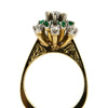 0.55 ct Diamond and Emerald ring circa 1960  - Montreal Estate Jewellers