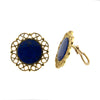 Vintage gold Lapis Lazuli earrings - Montreal Jewelry Store