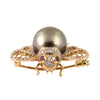 Bronze Tahitian Pearl, Ruby & Diamond Bumble Bee Brooch - Westmount, Montreal, Quebec