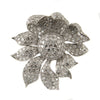 22 Carat Flower Diamond White Gold Brooch/Pendant - Westmount, Montreal