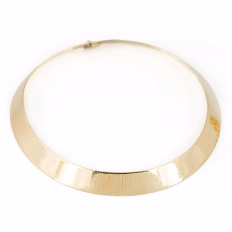 Italian 14k Yellow Gold Collar Necklace