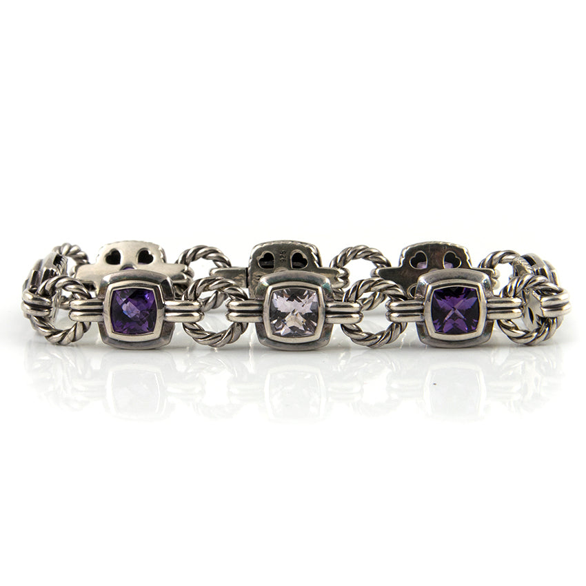 Vintage DAVID YURMAN Amethyst Bracelet - Montreal estate jeweller
