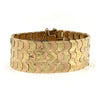 Rose and Yellow gold Flexible Cuff Bracelet - Daisy Exclusive Estate Jewellers Montreal