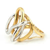 Modern Abstract Ring in 18k White & Yellow Gold - Daisy Exclusive Estate Jewellers Montreal