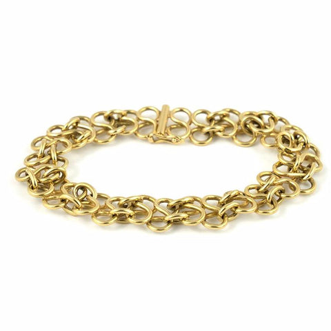 Vintage 18k Figure Eight Link Bracelet - Daisy Exclusive Estate Jewellers Montreal
