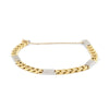 Two Tone Yellow & White Gold Chain Link Bracelet 18K - Daisy Exclusive Estate Jewellers Montreal