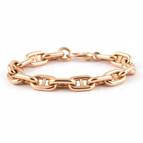 Vintage Bucherer 1888 Rose Gold Link Bracelet 18k - Daisy Exclusive Estate Jewellers Montreal