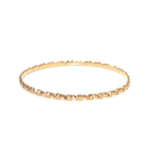 Vintage 21K Yellow Gold Bangle with Textured Design + Montreal Estate Jewelers
