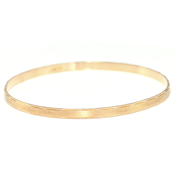 Vintage Italian 18K Yellow Gold Bangle + Montreal Estate Jewelers