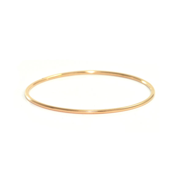 Vintage Egyptian 18K Rose Gold High Polish Finish Bangle Bracelet