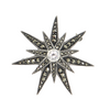 Vintage Judith and Jack Marcasite Sterling Silver Starburst Brooch + Montreal Estate Jewelers