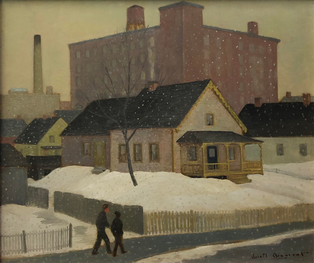 H. Beament - 'Snow in the Suburbs' - Oil on Board (21