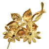 Vintage Diamond and Enamel 18K Yellow Gold Flower Brooch C.1950's + Montreal Estate Jewelers