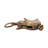 Vintage English 9k Yellow Gold Pig Charm + Montreal Estate Jewelers