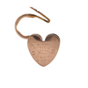 Antique 14k Rose Gold Heart Lock Charm (C.1891) + Montreal Estate Jewelers