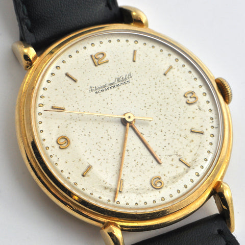 IWC Schaffhausen 18K yellow Gold watch Caliber 89 Circa 1948 - Montreal vintage watches