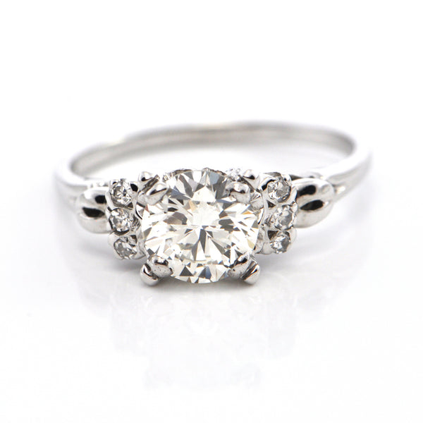 1.28 CT Art Deco Diamond Ring C. 1930 - GIA Certified + Montreal Estate Jewelers