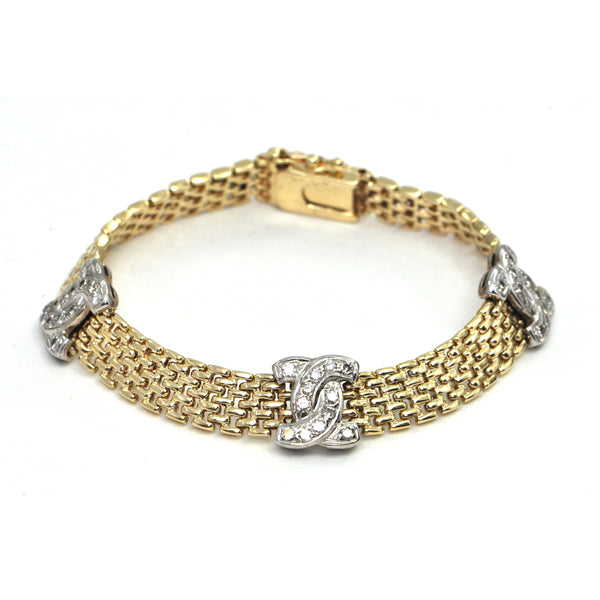 1.00 ct diamond station bracelet Circa 1960 - montreal estate jewellers