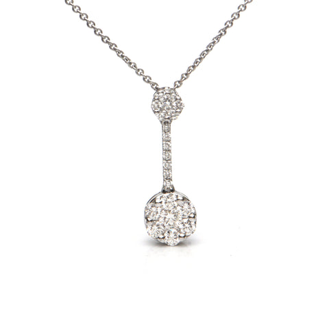 0.60CT Diamond 18K White Gold Necklace + Montreal Estate Jewelers