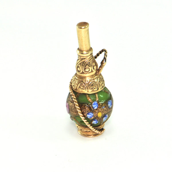 Vintage 14K Yellow Gold and Enamel Shisha Charm + Montreal Estate Jewelers
