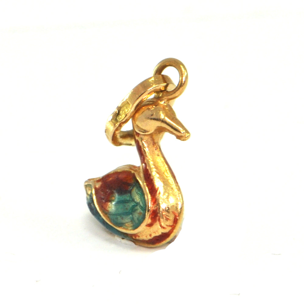 Vintage 18K Yellow Gold Duck Charm + Montreal Estate Jewelers