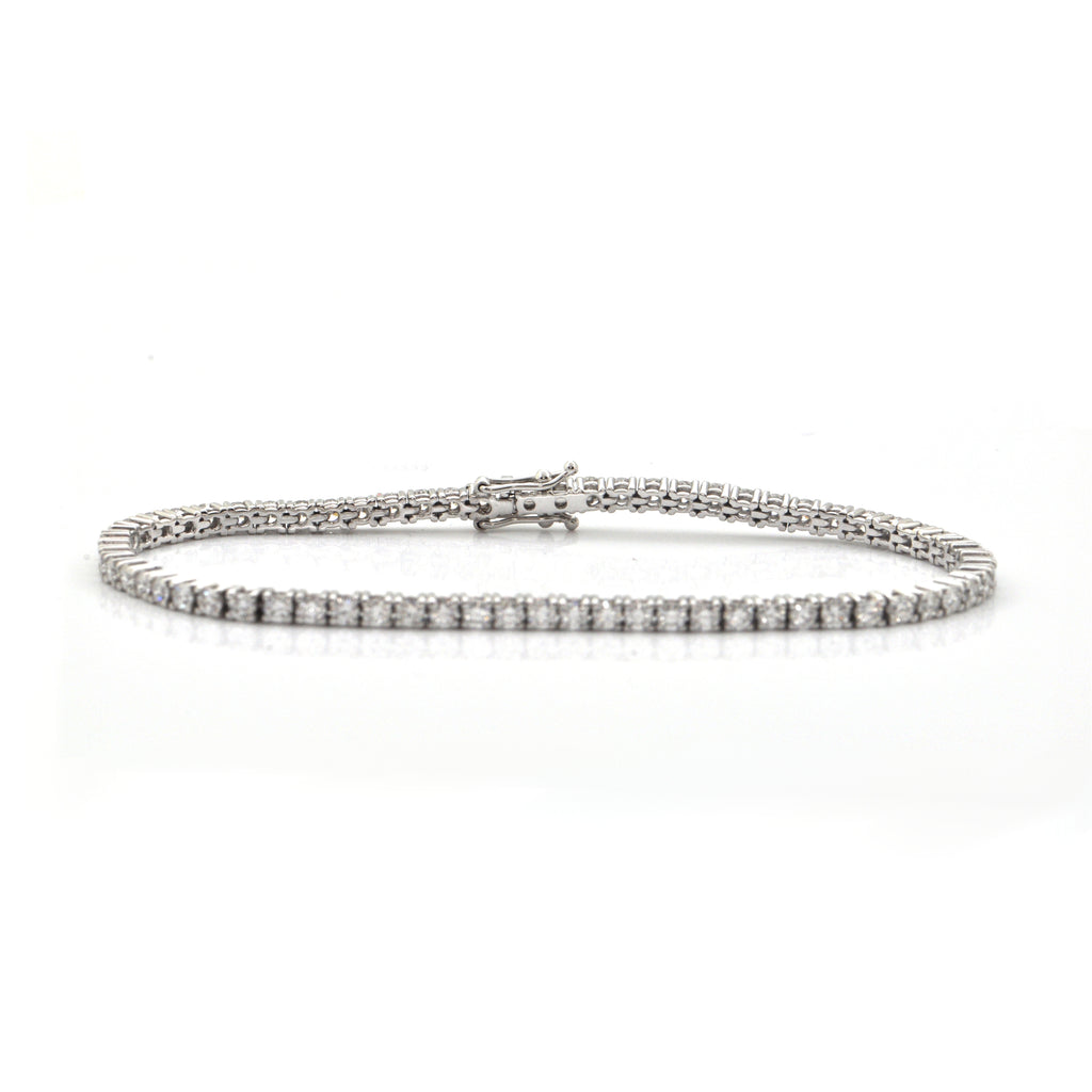 3.65CT Diamond and 18K White Gold Tennis Bracelet