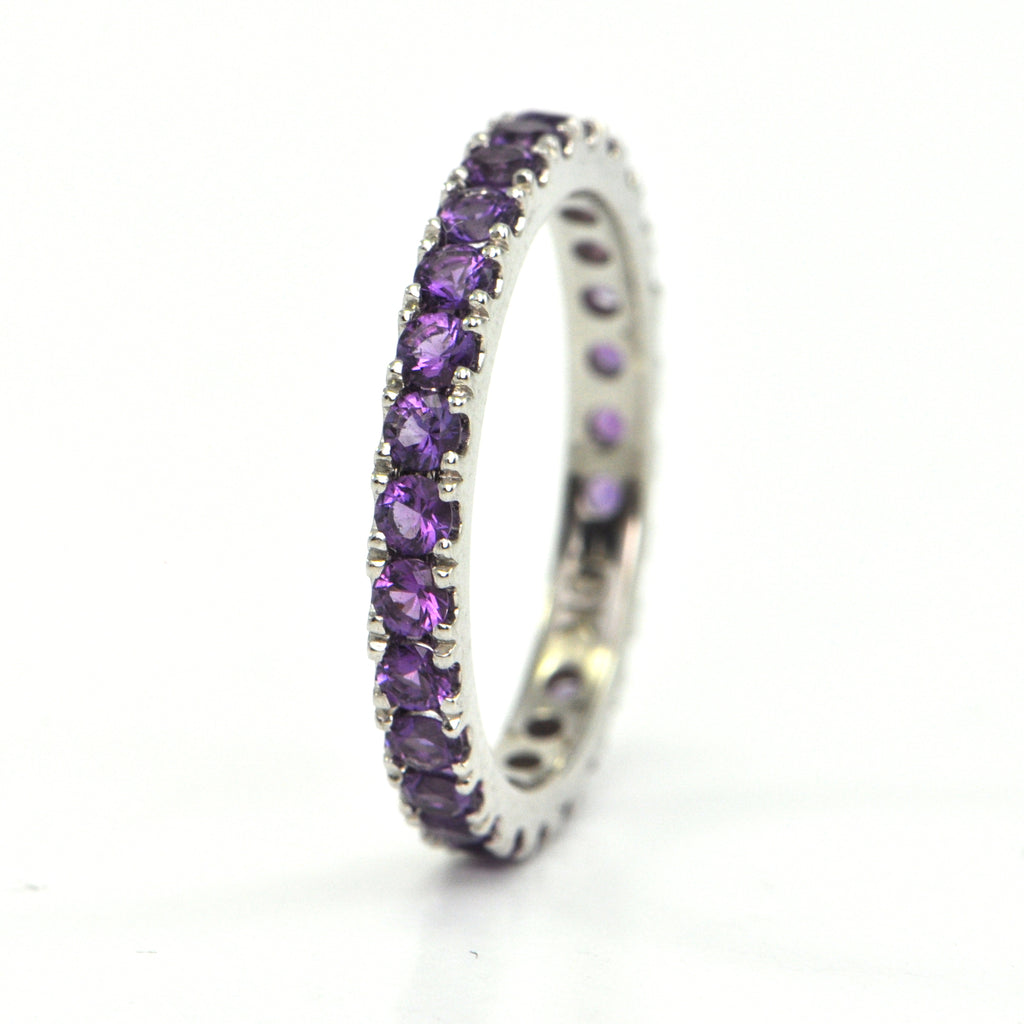 1.1 ct Amethyst eternity band - Montreal jewellery design