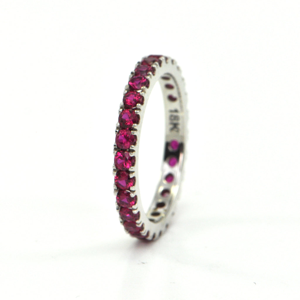 1.35 ct Ruby eternity band - montreal custom jewellery