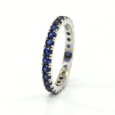 1.35 ct Sapphire eternity band - montreal jewellery design
