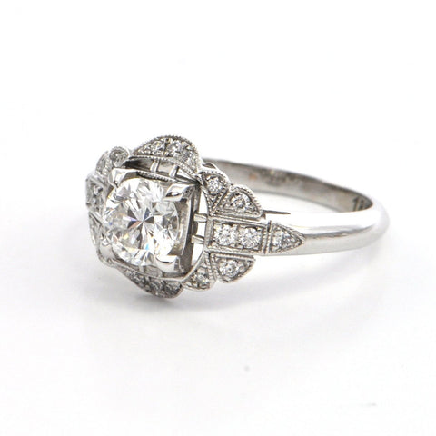 0.81 ct Diamond ring 'Edwardian Inspired' by Daisy Exclusive, montreal jeweller, custom design, westmount