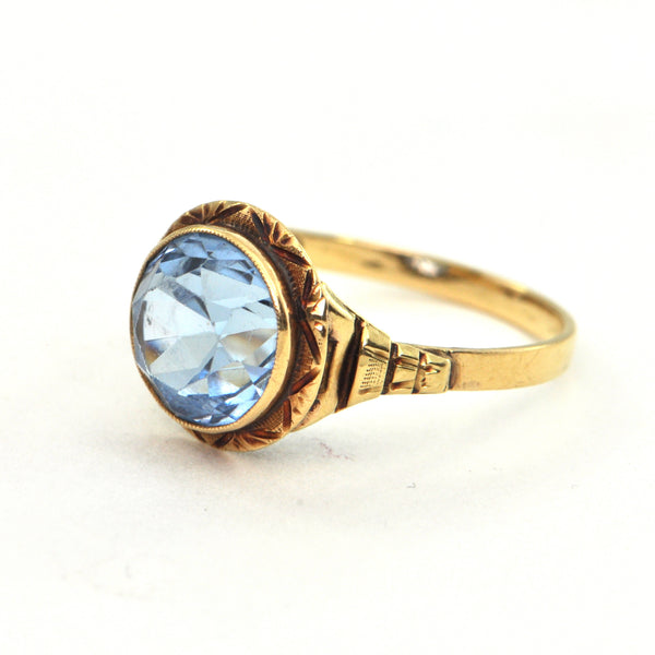 3.9 ct Antique Spinel ring in 14k gold Circa 1910 - Montreal estate jewellers