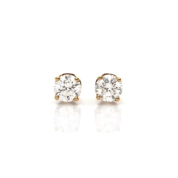 0.50CT Diamond Stud Earrings in 18k + Montreal Estate Jewelers