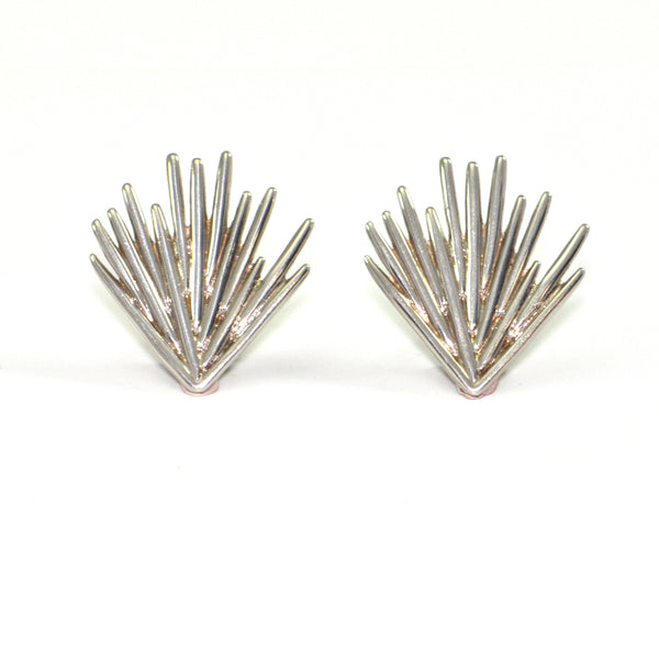 Vintage Christofle Palmacea Sterling Earrings + Estate Jewelers
