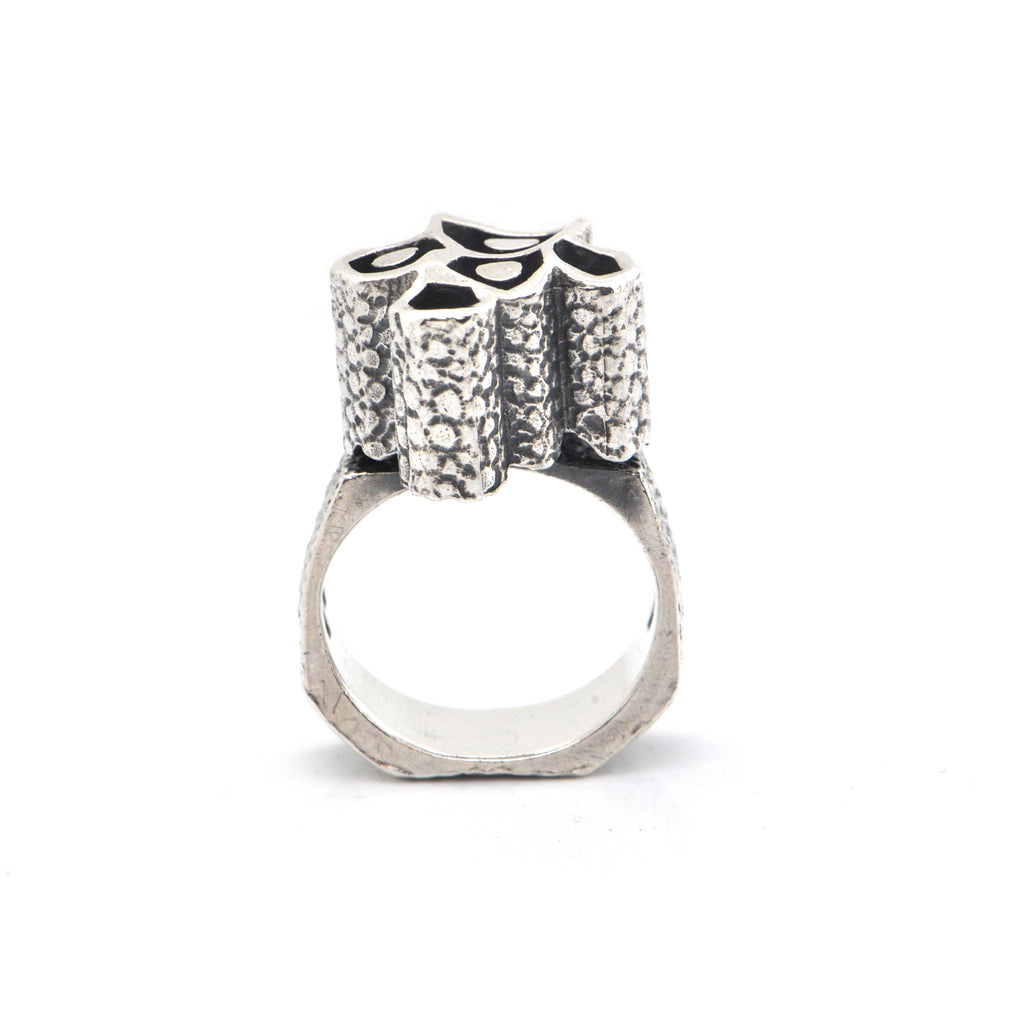 Walter Schluep Textured Sterling Silver Ring + Montreal Estate Jewelers