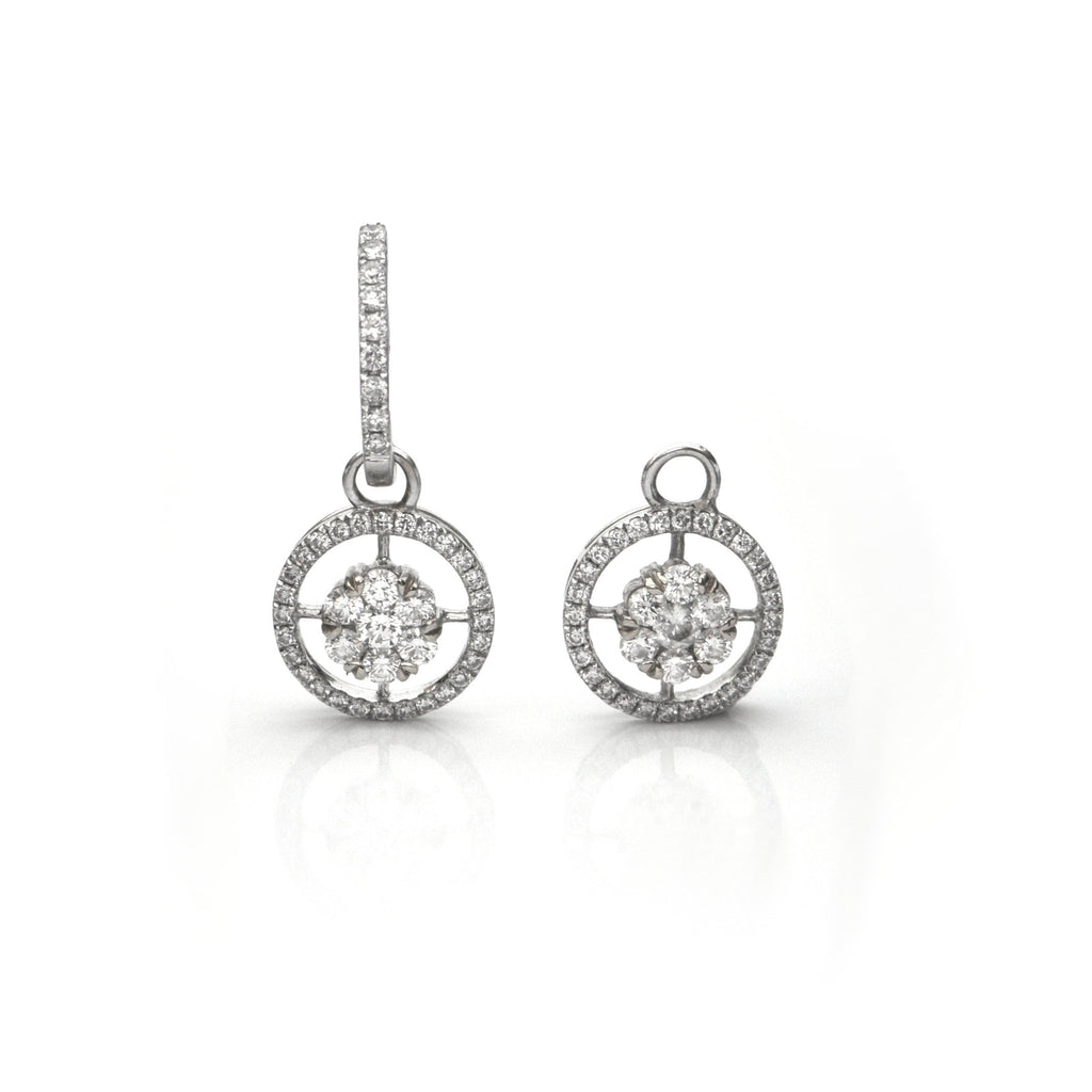 0.82CT Diamond and 18K White Gold Earring Enhancers + Montreal Estate Jewelers