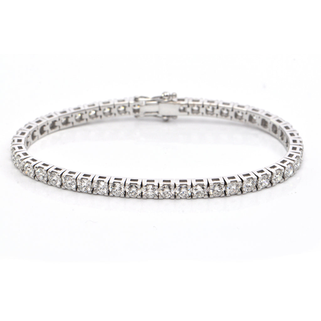 7.76 ct Diamond Tennis Bracelet VVS, D-E-F + Montreal Estate Jewelers