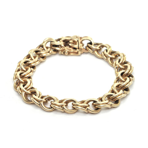 Vintage 18K Yellow Gold Chain Link Bracelet + Montreal Estate Jewelers