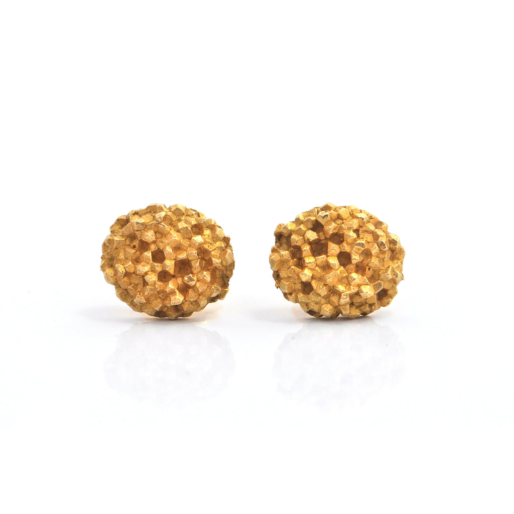 Walter Schluep Textured 18K Yellow Gold Cufflinks