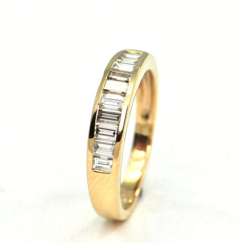 0.65 ct diamond baguettes band - montreal estate jewellers