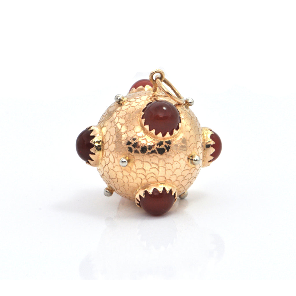 Italian Large 18K Yellow Gold Orb Charm