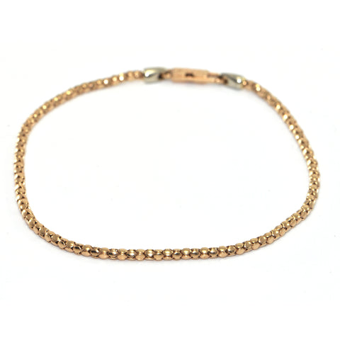 Vintage Chini 18K RoseGold Beaded Chain Bracelet + Montreal Estate Jewelers