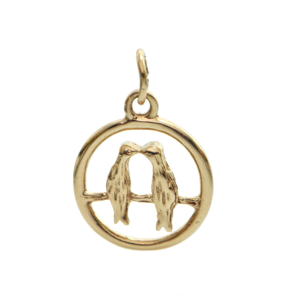 10K Yellow Gold Love Birds Charm + Montreal Estate Jewelers